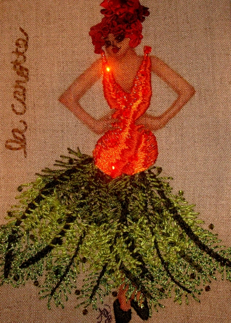 Audrey's carrot embroidery